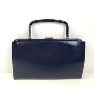 Vintage Garay Navy Leather Convertible Clu…